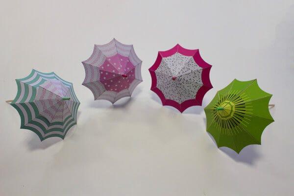 DIY Ice-Cream Umbrellas