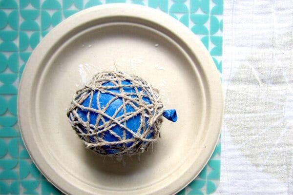 DIY Yarn Ball Garland