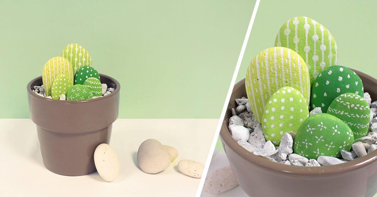 DIY Pebble Cactus