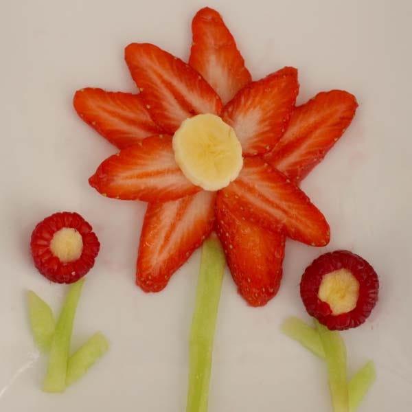 Food art flower