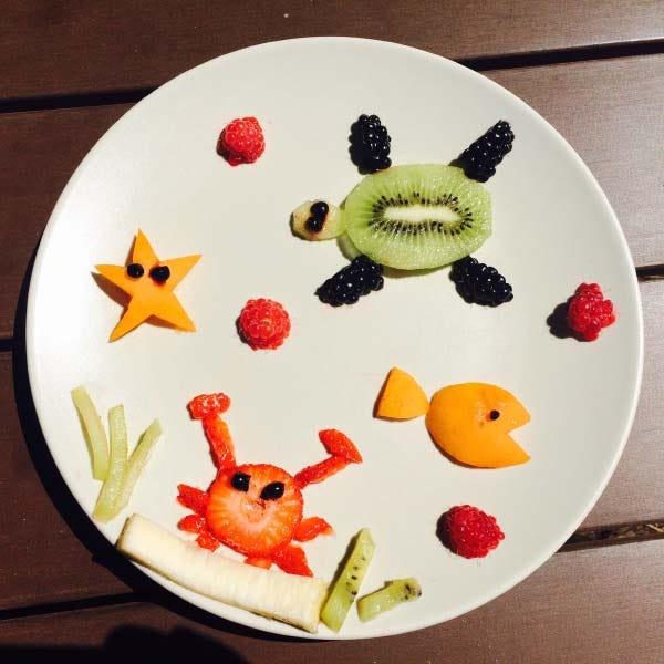 Food art sea animals