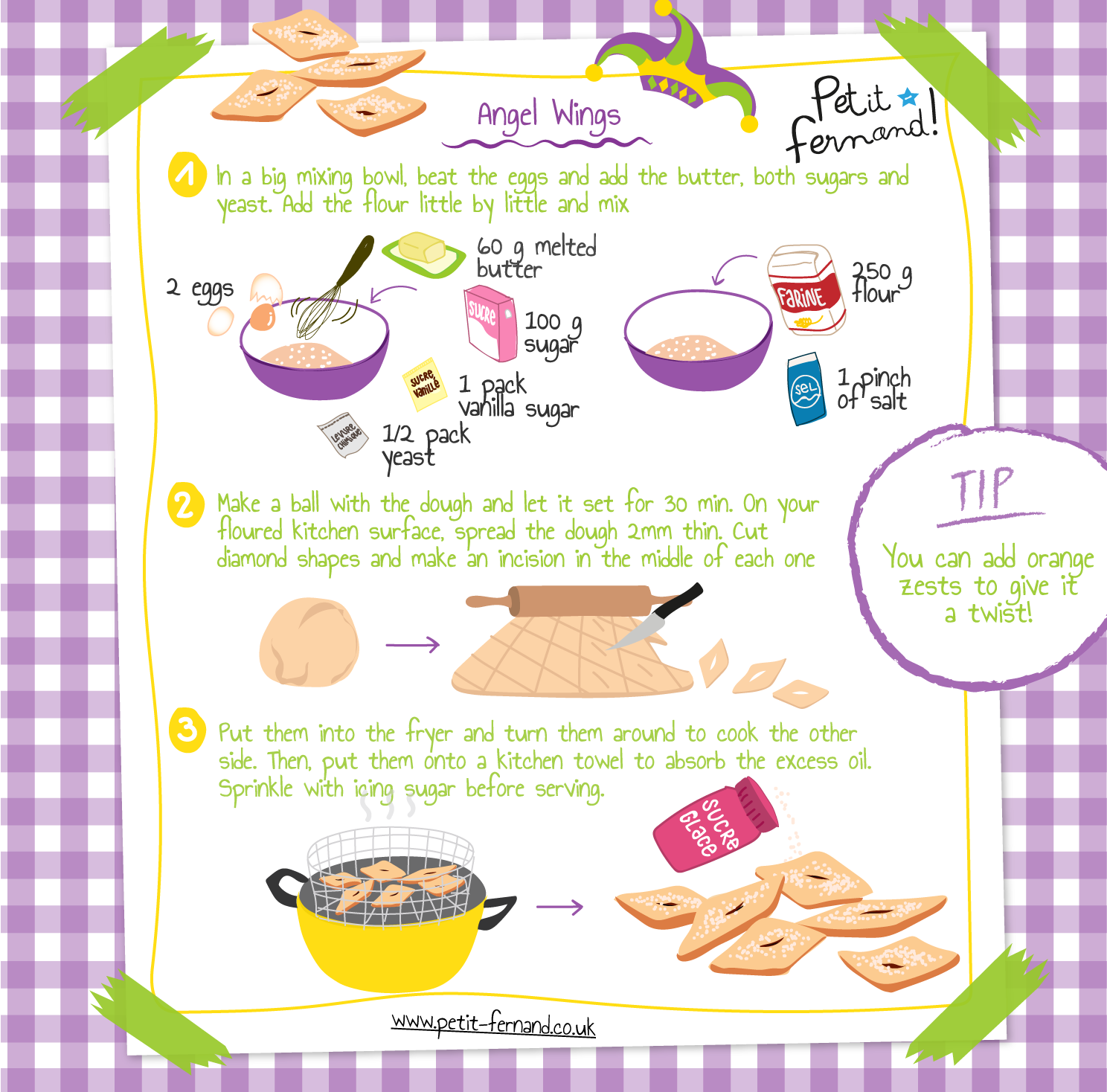 Kids' angel wings recipe