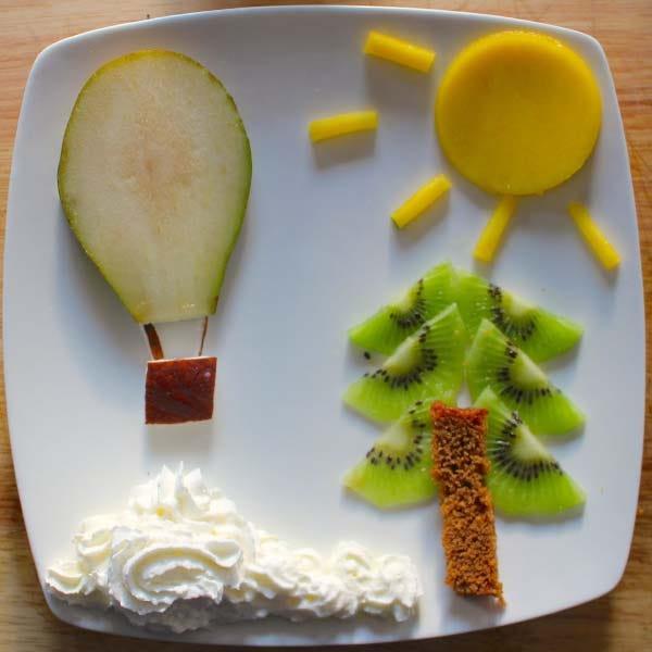 Food art Hot air balloon