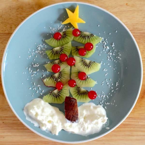 Food art christmas tree