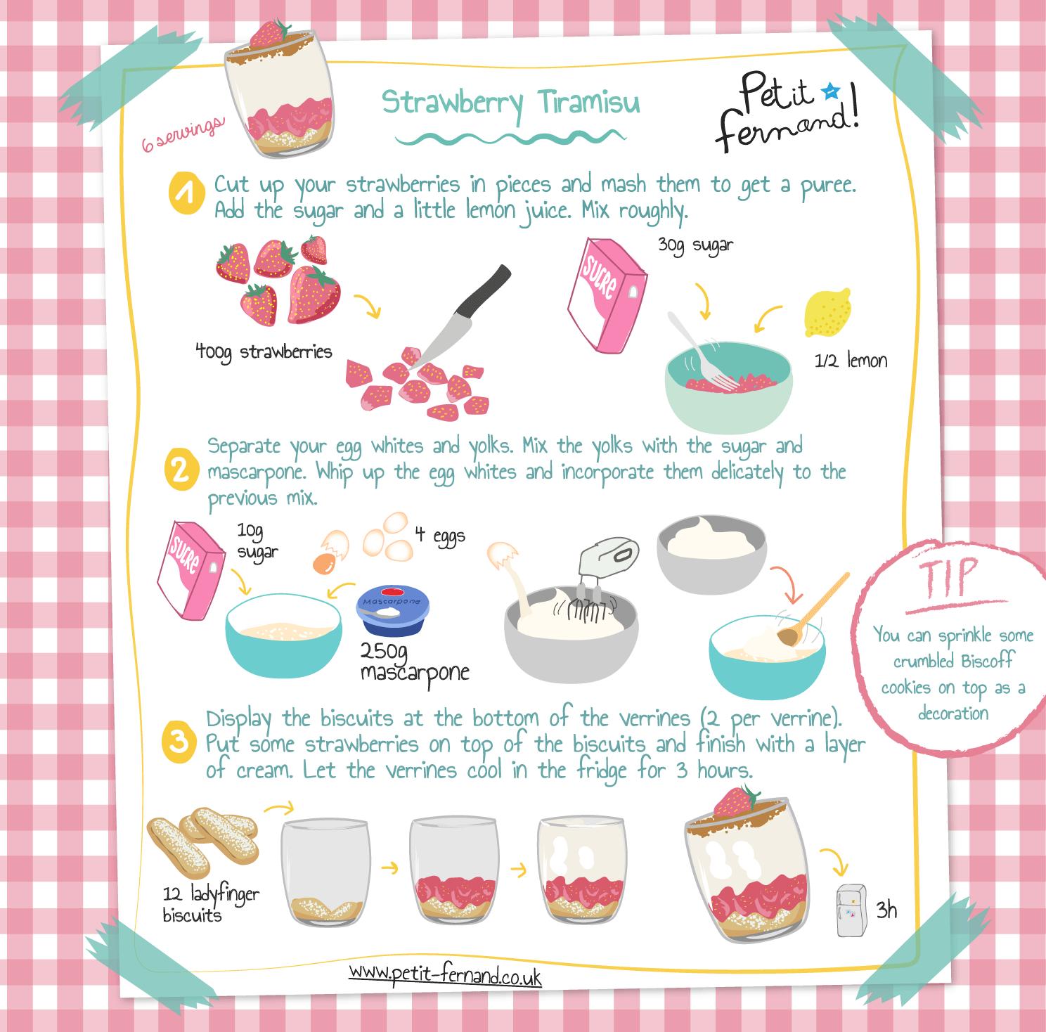Kids' tiramisu recipe