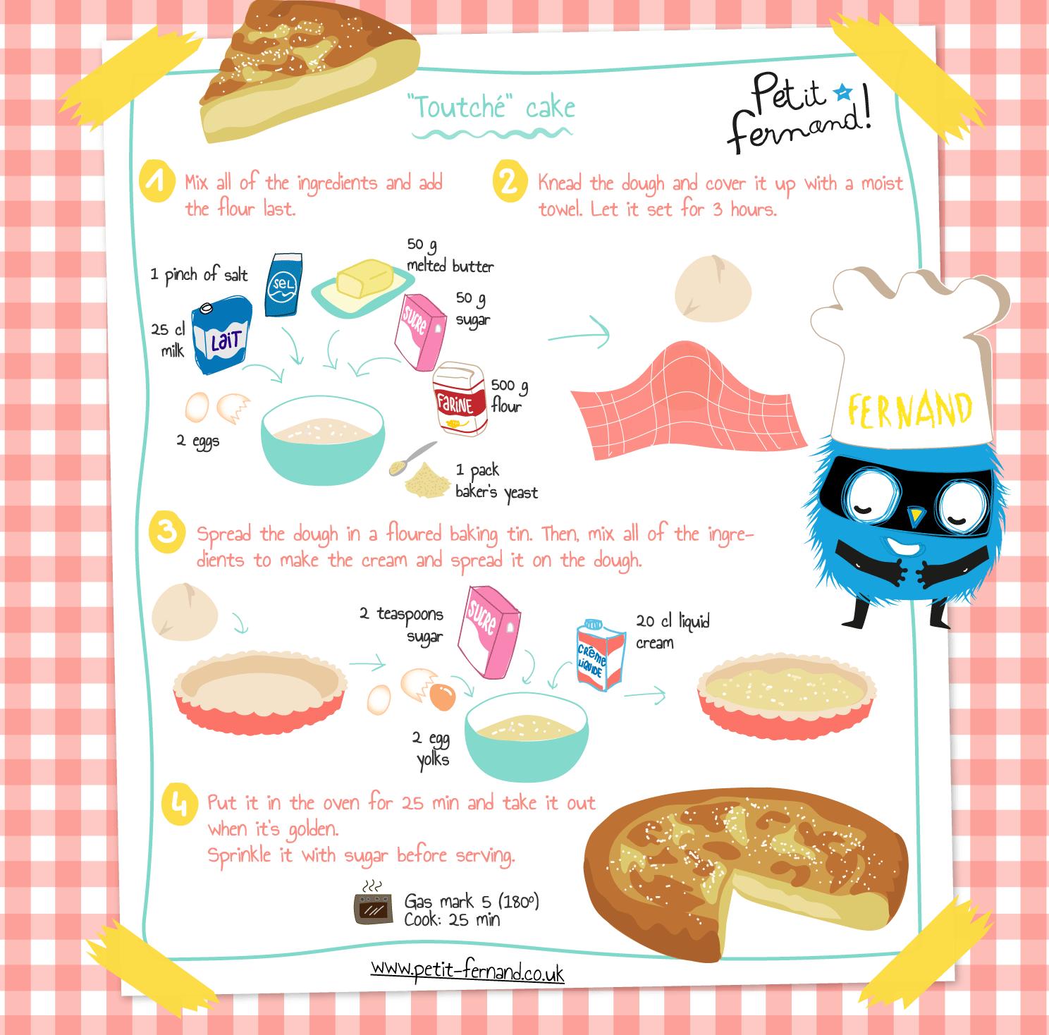 Kids' cake recipe