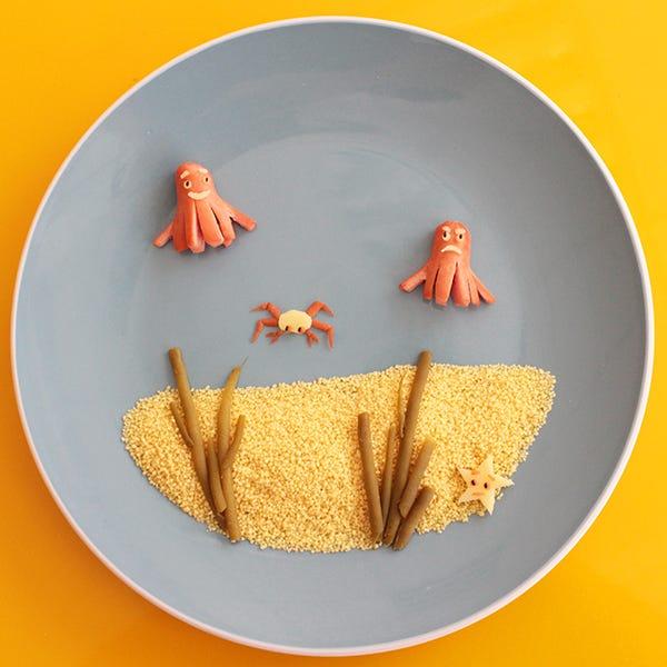 Fun Food Sausage Squids