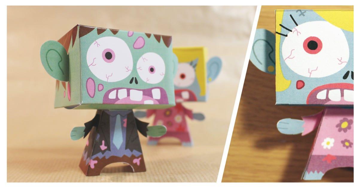 Zombie Paper Toys Diy Petit Fernand