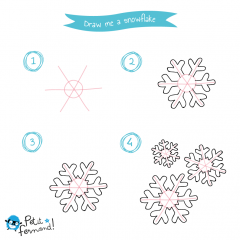 Snowflake drawing tutorial