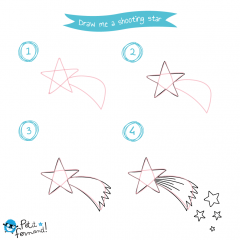 Shooting star drawing tutorial