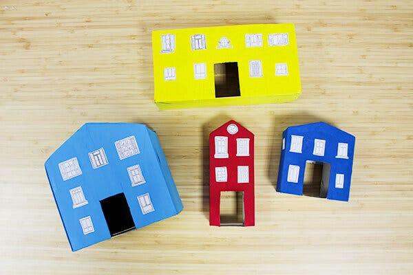 DIY Cardboard Train Game