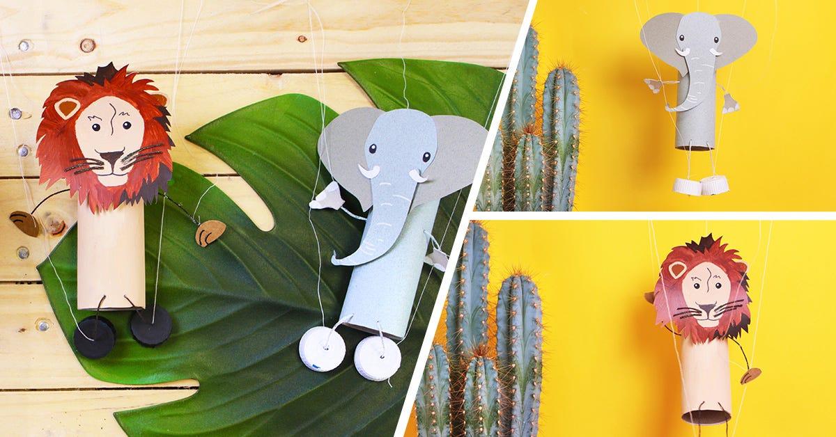 DIY Animal string puppets