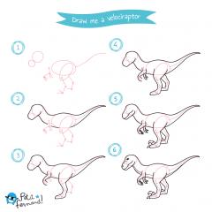 Velociraptor Drawing Tutorial