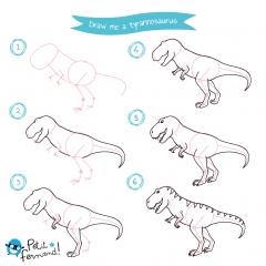 Tyrannosaurus Drawing Tutorial