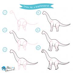 Brachiosaurus Drawing Tutorial