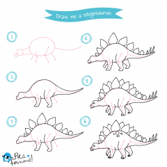 Stegosaurus Drawing Tutorial