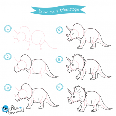 Triceratops Drawing Tutorial