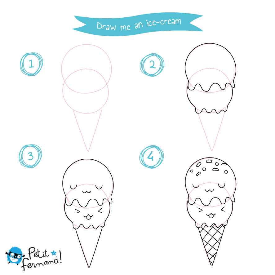 Ice Cream Drawing Tutorial Petit Fernand Uk