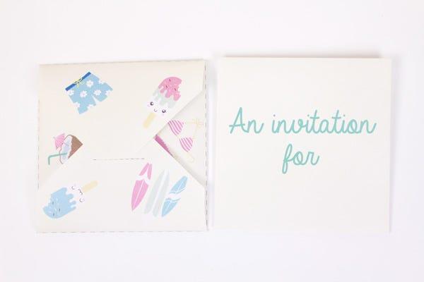 DIY Popsicle invitations
