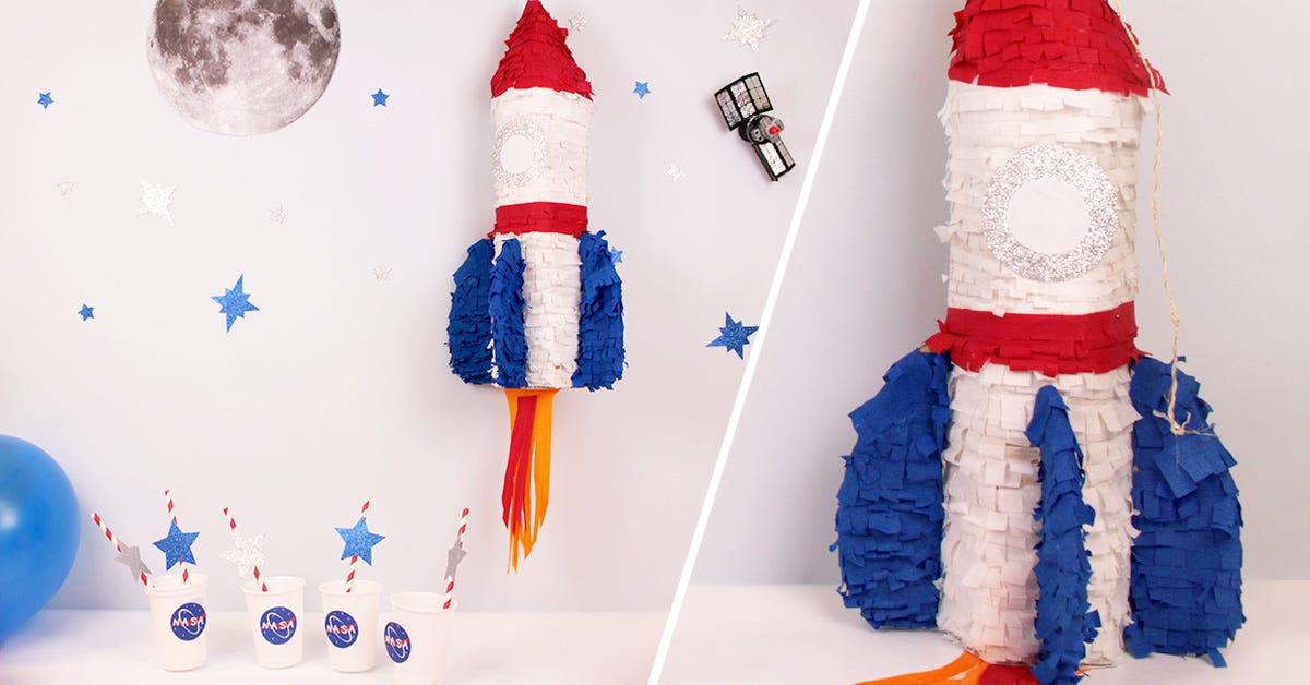 DIY Space Rocket Pinata