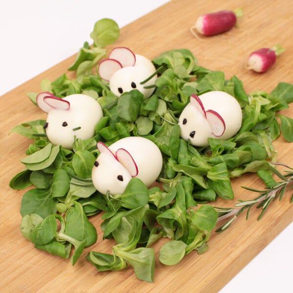 Food art egg mouse