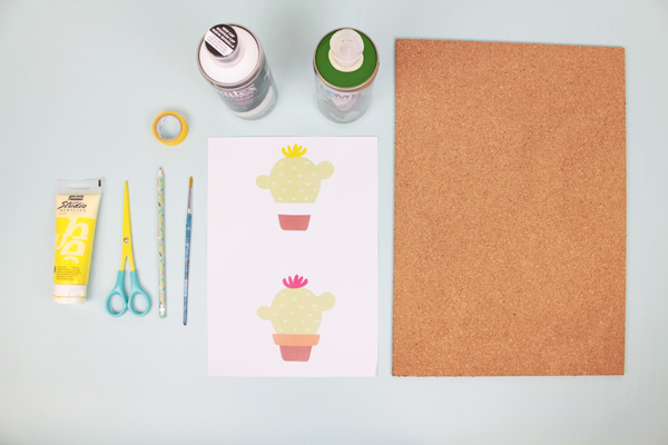 DIY for Kids: Cactus Cork Photo Board