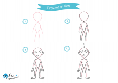 Learn How to Draw Alien