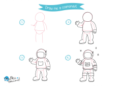 Learn How to Draw Cosmonaut