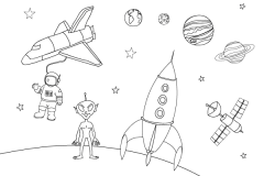 Learn How to Draw Space