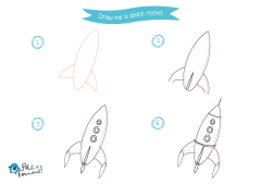 Learn How to Draw Space Rocket