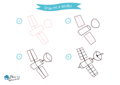 Learn How to Draw Satellite