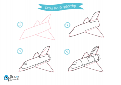 Learn How to Draw Spaceship