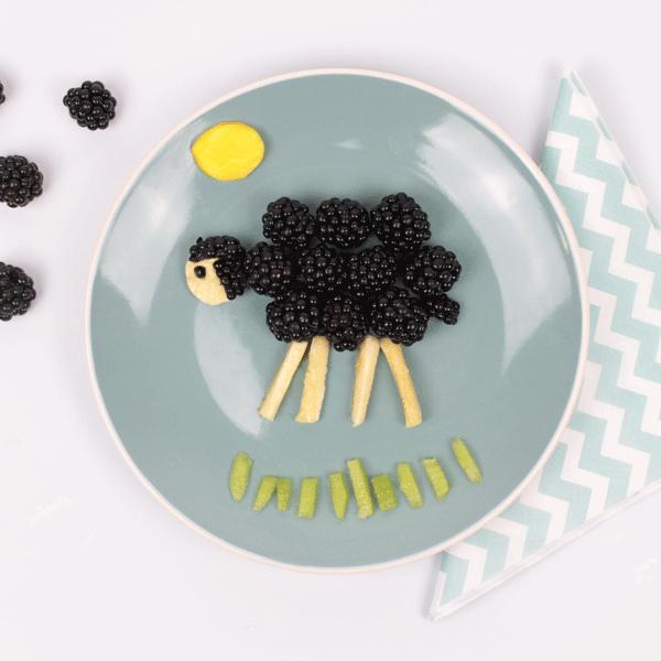 Healthy Blackberry Desert Food Art