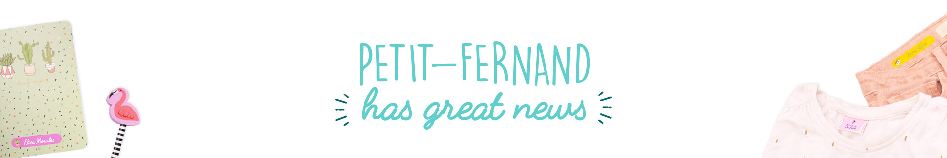 Colour icons for personalised labels Petit-Fernand