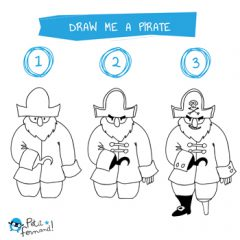Pirate Drawing Tutorial