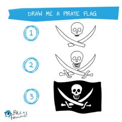 Pirate Flag Drawing Tutorial
