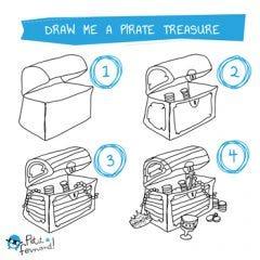 Treasure Chest Drawing Tutorial
