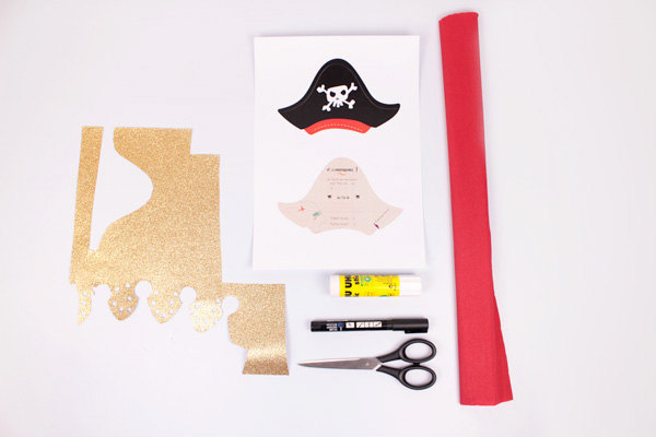 DIY Pirate Birthday Invitation