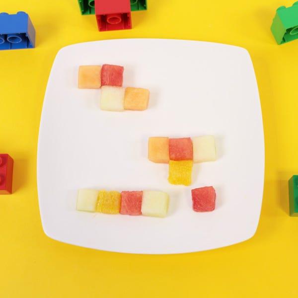 Tetris fun food