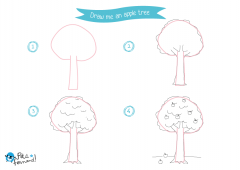 Learn How to Draw Countryside - Apple Tree