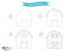 Learn How to Draw Countryside - Barn