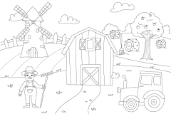Learn How to Draw Countryside - Colouring