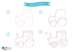 Learn How to Draw Countryside - Tractor