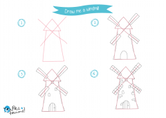 Learn How to Draw Countryside - Windmill