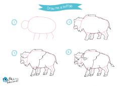 Learn How to Draw Indians - Buffalo