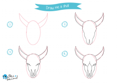 Learn How to Draw Indians - Skull