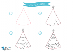 Learn How to Draw Indians - Teepee