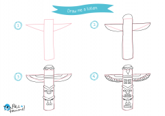 Learn How to Draw Indians - Totem