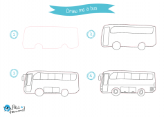 Learn How to Draw Public Transport