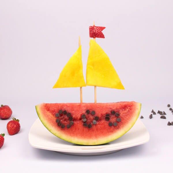 Food Art: Summer Fruit Boat